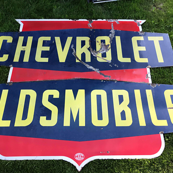 Chev/Olds Dealer Sign - Classic Cars