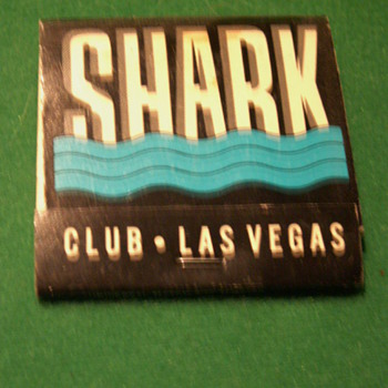 Vintage 80's Shark Club Matchbook ~ Las Vegas, Nevada