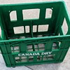Canada Dry and 7-UP plastic crates.