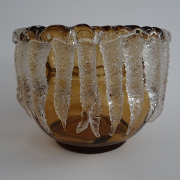 "Vase ""Eiszapfen"" (Icicles) - Loetz (early production) or Harrach - Art Glass"