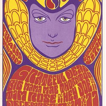 Wes Wilson postcard, 1966 - Music Memorabilia