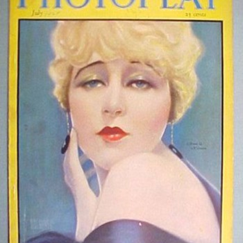 Photoplay July 1924 Anna Q. Nilsson Cover Sunset Boulevard Waxwork