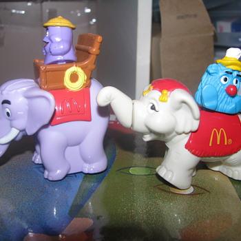 Vintage McDonalds elephant toys - Animals