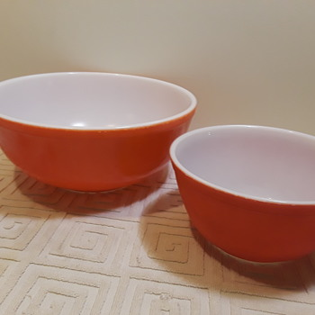 red and white PYREX - Kitchen