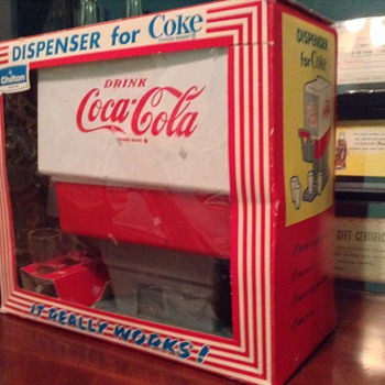 1960s coca cola dispenser toy in box - Coca-Cola