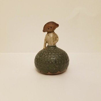 Unidentified but adored clay bell/rattle  - Folk Art