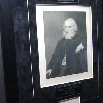 Henry Wadsworth Longfellow  .  .  .  Steel Engraving/Signature
