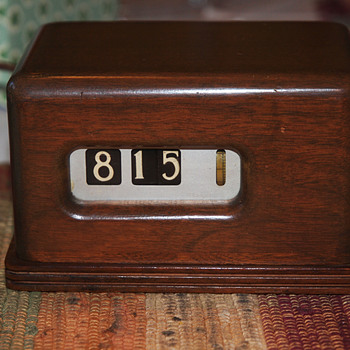 Wooden Case Barr Manufacturing Digital Clock