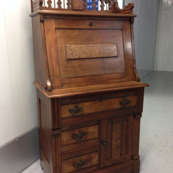 Renaissance Revival Or Eastlake Secretary? Walnut Or Mahogany? | Collectors  Weekly