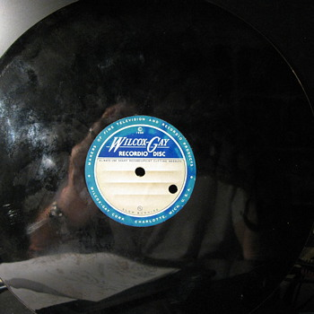 Blank Recordio Disc from 1950 - Records