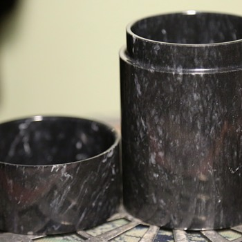 Perfectly Made Carved Stone Cylindrical Box - Furniture