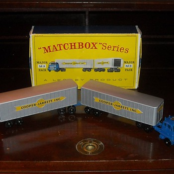 Matchbox Major Pack M-9 Inter-State Double Freighter - Model Cars