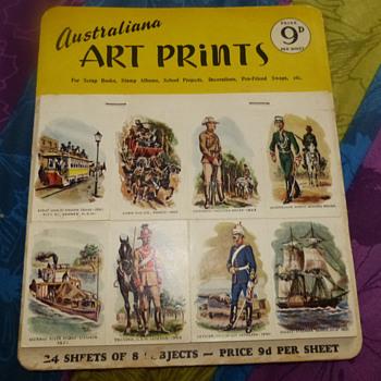 Australiana Art Prints, circa 1950's-1960's