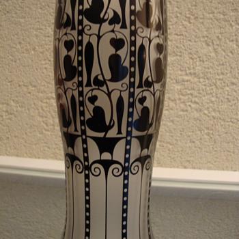josef hoffman vase wiener werkstatte - Art Glass