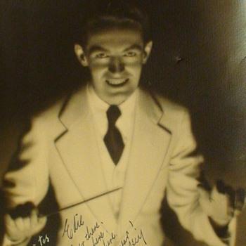"Fred Waring Bandleader ""The Pennsylvanians"" Haunting Photograph Deco Era"