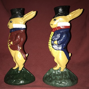 Albany Foundry #94 Gentleman Rabbit Doorstops - Tools and Hardware
