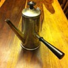 Silver Tea Pot with straight handle