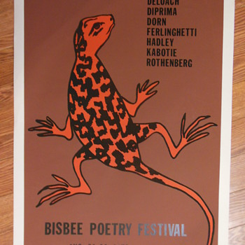 Poetry Festival Poster, 1979:  Ferlinghetti, Rothenberg