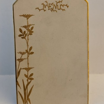 Art Nouveau Porcelain Menu Board - Identity of Mark? - Art Nouveau