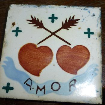 old acrilyc tile,?????? - Pottery