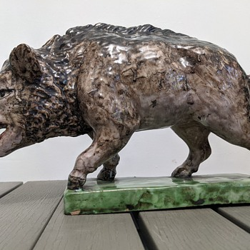Giustiniani wild boar figurine - Animals