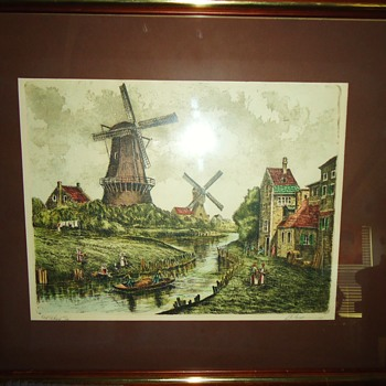 $10.00 Dutch print from Gospel Thrift Store, Who i artist??