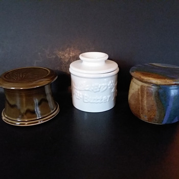 Some miscellaneous butter crocks - Kitchen