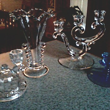 Imperial and Fostoria Glass Menagerie/ Circa 1940's 50's 60's - Glassware