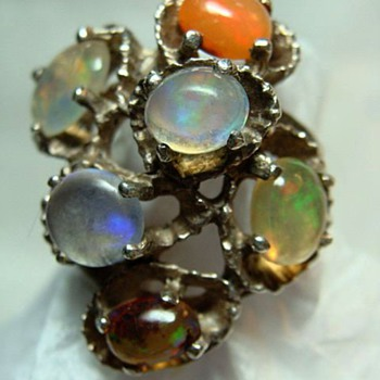 Modernist Multi-Opal Ring - Fine Jewelry