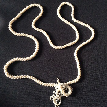 Very long pearl necklace. - Fine Jewelry