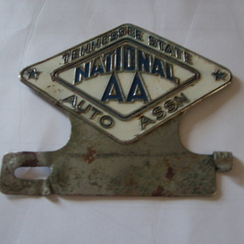 AUTO CLUB LICENSE TAG