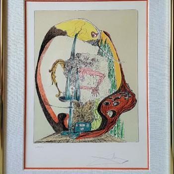 """Salvador Dali """"Et La Ruisseau Nuit Bercera La Terre"""" - Fine Art"""