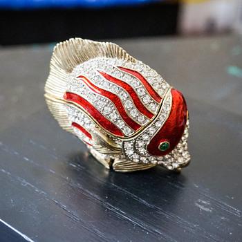 Fish Trinket Box - Costume Jewelry