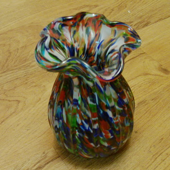 help with splatter glass vase - Art Glass