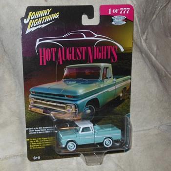 Johnny Lightning 1965 Chevrolet Truck 1 of 777 Hot August Nights  - Model Cars