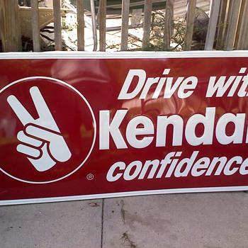 1950's Kendall Motor Oil Sign - Petroliana