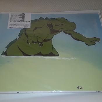 A Godzilla Cel From Hanna Barbera - Movies