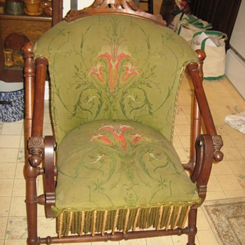 This time a Hunzinger folding chair in original upholstery. - Furniture