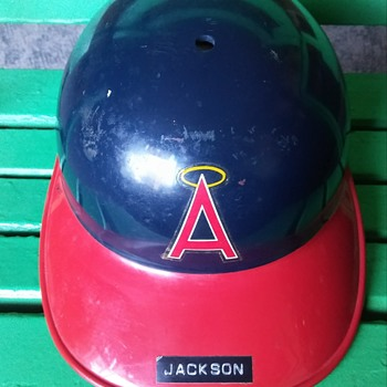 Game Used Reggie Jackson Batting Helmet - Baseball