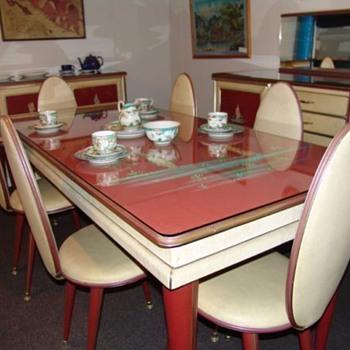 1950's Umberto Mascagni Rare Italian Dining Suite Sold In Harrods - Mid-Century Modern