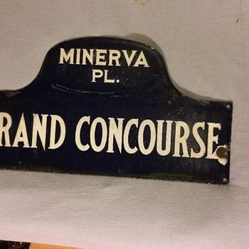 1920s-1930s Bronx, N.Y. porcelain street sign - Signs