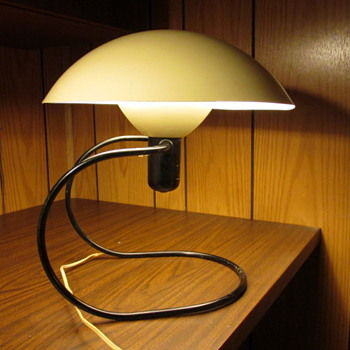 Authentic Mid-Century Modernistic Dome Table/Wall Lamp - Lamps