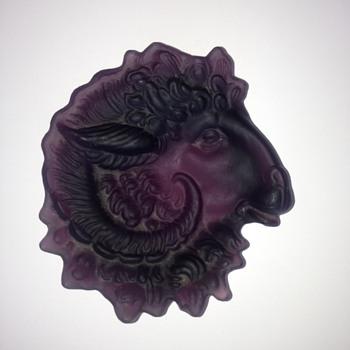 Ram's Head Dish? - Art Glass