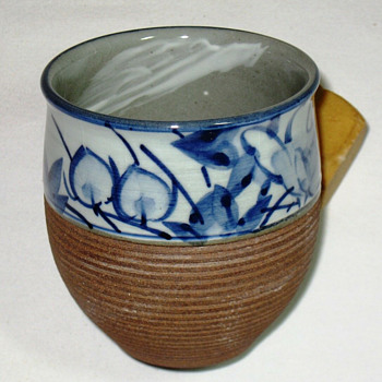 Half glazed Western style Earth and sky Japanese cup - Asian