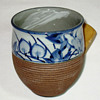 Half glazed Western style Earth and sky Japanese cup