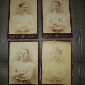 Four 1800s boxer cabinet photographs john sullivan ? - Photographs