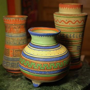 Tonala Pottery - Aztec Line - 1930s - Mexico - Pottery