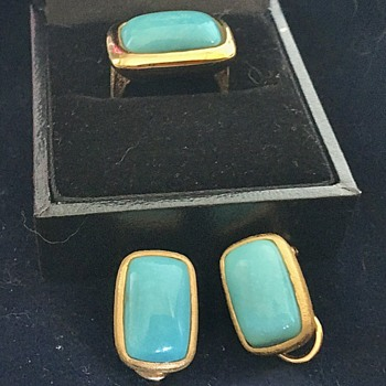 925 Sterling Turquoise Ring and Earrings Who's The Maker? - Fine Jewelry