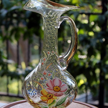 Decorative glass pitcher from Japan - Glassware