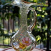 Decorative glass pitcher from Japan